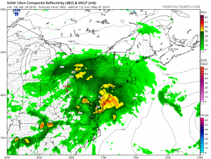 nam66 Evening Commute Rainfall