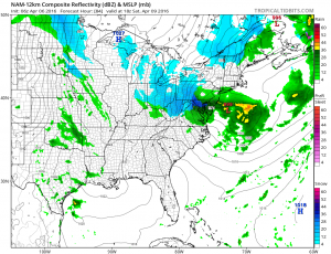 nam84 Weekend Storm Threat Hinges On Polar Vortex