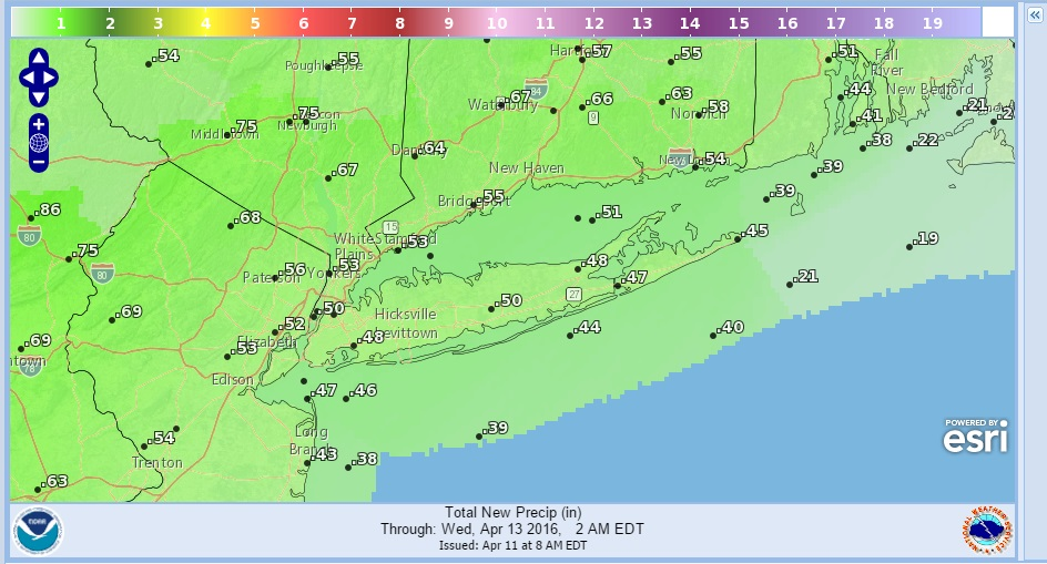 Showers Approach Milder Temperatures