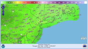 rainfall Sunday Rain Making Final Approach