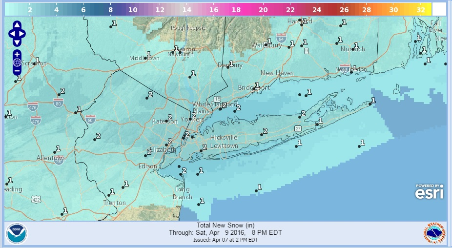 Snowfall Forecasts National Weather Service