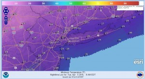 tuesday Freeze Warning Tonight