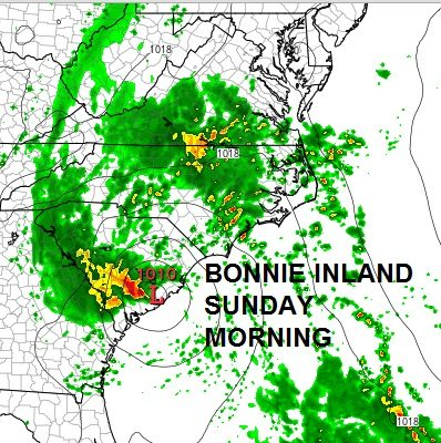 Bonnie Stalled Offshore South Carolina