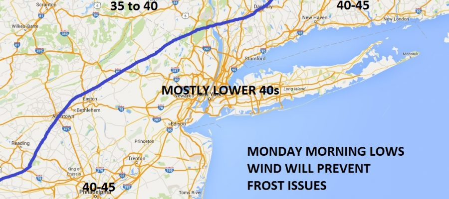 Frost Freeze Monday Morning?