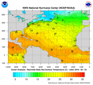 atlanticwatertemps Hurricane Season Starting Early