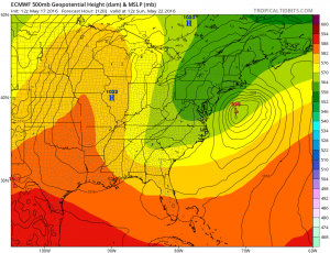 euro120 Coastal Storm Threat Next Week Continues GFS EURO MODEL UPPER AIR MONDAY