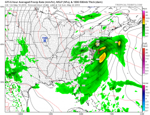 gfs144 Windy Afternoon Rain Late Tuesday