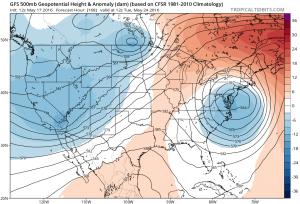 gfs168 Coastal Storm Threat Next Week Continues GFS EURO MODEL UPPER AIR MONDAY