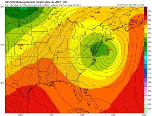 gfs168 Coastal Storm Threat Next Week Continues GFS EURO MODEL UPPER AIR MONDAY