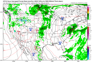 gfs174 Rain Later South