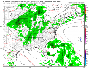 gfs36 Holiday Weekend Weather Underway