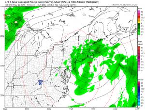 gfs60 Rain Overnight Moving East