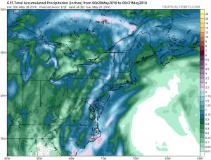 gfsprecip Tropical Depression 2 Continues Toward South Carolina