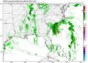 hrrr15 Tropical Depression 2 Continues Toward South Carolina