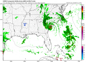 hrrr15 TROPICAL STORM BONNIE FORMS