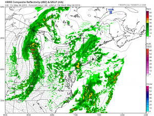 hrrr8 rain moving northeast
