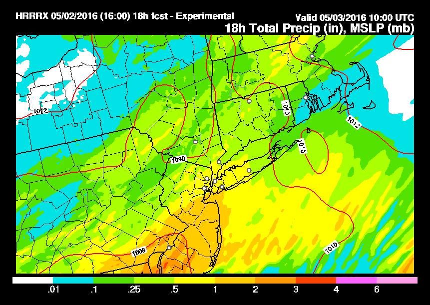 Severe Weather South HRRR Model