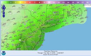 precip Rain Moving To NYC