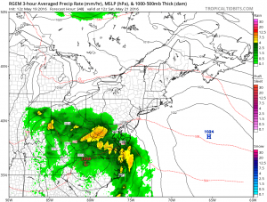 rgem48 Weather Models Trending South