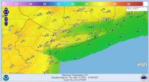 thursday dry air penetrates