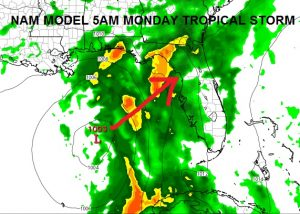COLIN Tropical Storm Warning West Florida
