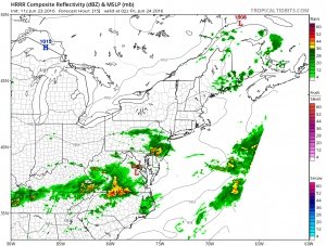 HRRR15 Severe Weather Threat Thursday June 23