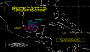 depression Tropical Depression Forming SW Gulf of Mexico