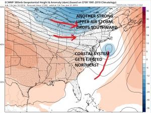 euro120 Coastal Storm Offshore Early Next Week