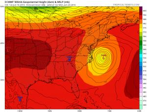 euro96 Coastal Storm Offshore Early Next Week