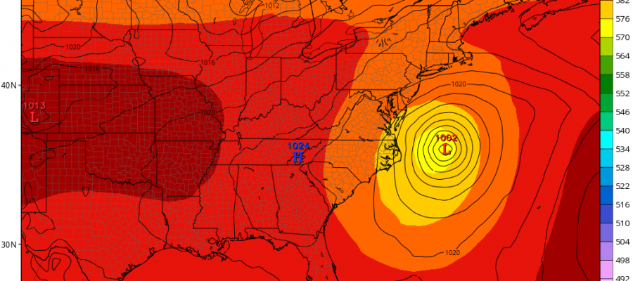 Coastal Storm Offshore Early Next Week