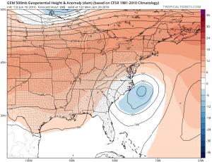 gem96 Coastal Storm Offshore Early Next Week