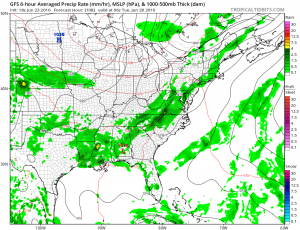 gfs108 Thunderstorms Moving South Friday Sunshine