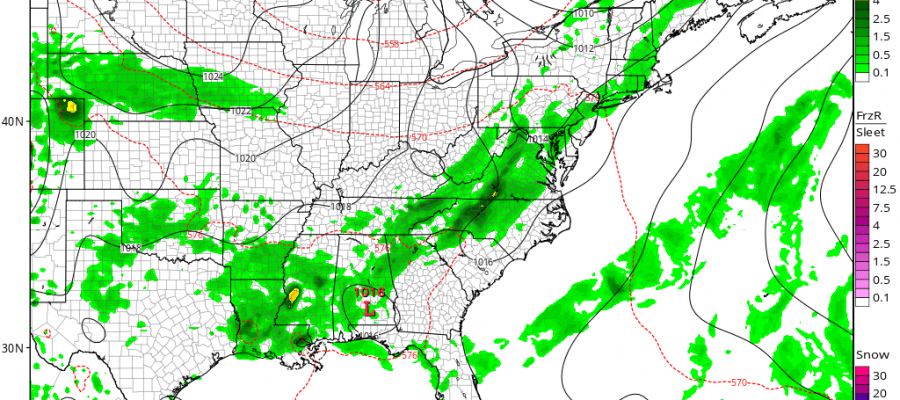Thunderstorms Moving South Friday Sunshine