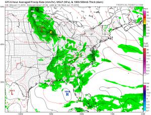 gfs114 Storm Threat Ending Nice Sunday Ahead