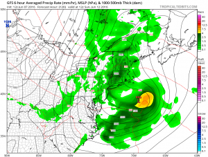 gfs120 Midday Thunderstorms Wednesday