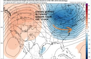 gfs54 Colin Moving Offshore Tuesday Night