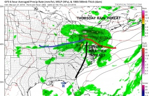 Hot Tuesday Rain Threat Thursday
