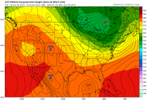 gfs96 Tropical Storm Possible Gulf