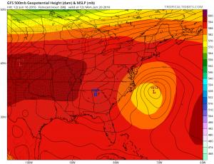 gfs96 Coastal Storm Offshore Early Next Week