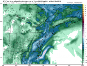 Weather Models Strong Trough Approaching
