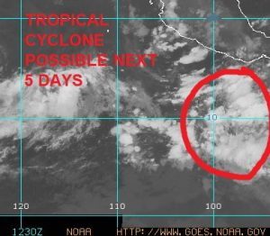 First Pacific Tropical Storm Possible