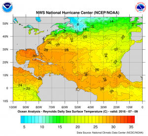 atlanticseatemps1 Atlantic Hurricane Season Western Atlantic Satellte Loop