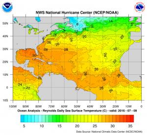 atlanticseatemps1 Atlantic Hurricane Season Western Atlantic Satellte Loop