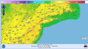 friday Heat Advisory New Jersey