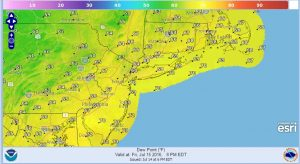 fridaydewpoint Severe Weather Ends Hot Friday