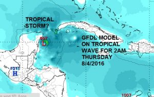 strong tropical wave moving west