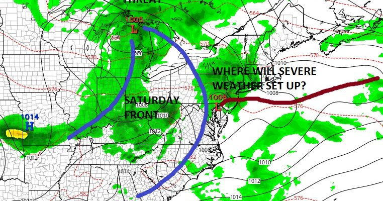 Severe Weather Threat Friday Just West