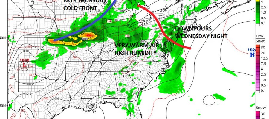 High Humidity Midweek Hot Dry Friday
