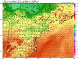 gfs84 High Humidity Midweek Hot Dry Friday