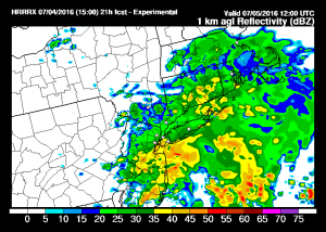 hrrr12 Rain Moving Northward
